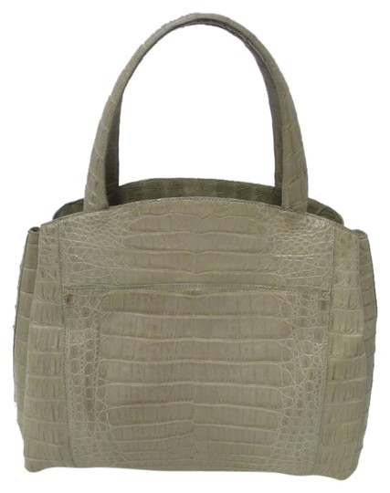 Nancy Gonzalez Crocodile Expandable Tote in Gray (Taupe)