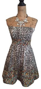 American Rag short dress Blue Leopard on Tradesy