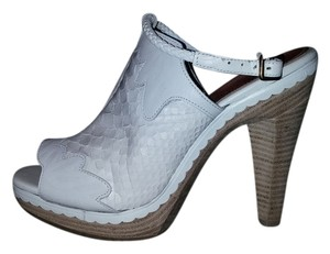 Derek Lam Snakeskin Leather White Sandals