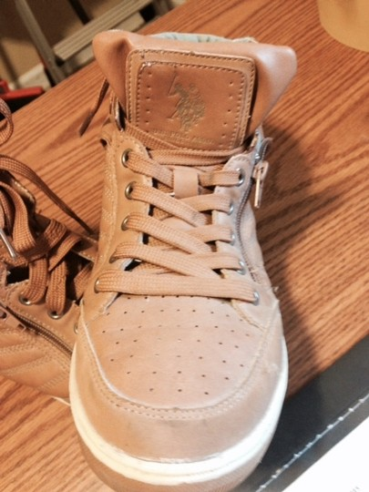 U.S. Polo Assn. Tan and green Athletic
