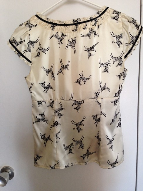 Nanette Lepore Top ivory and black