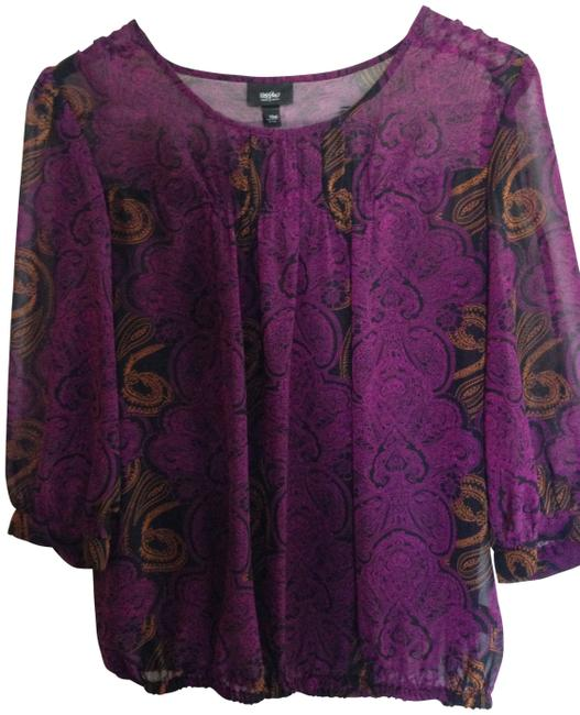 Preload https://img-static.tradesy.com/item/412388/target-sheer-purple-with-black-and-gold-detail-blouse-size-4-s-0-0-650-650.jpg
