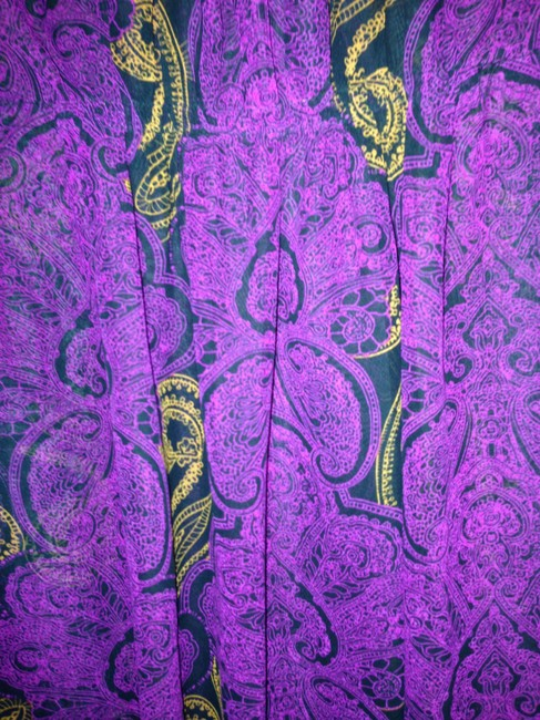 Target Top Sheer purple with black and gold detail