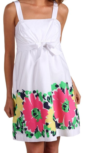 Lilly Pulitzer short dress Strapless Avaline Resort White Doodle Bug Daisy on Tradesy
