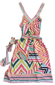 BCBGMAXAZRIA short dress Multi-colored Chevron Summer on Tradesy
