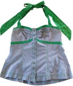 Anthropologie Blue and Green Halter Top