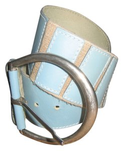 Other Light Blue Leather Belt
