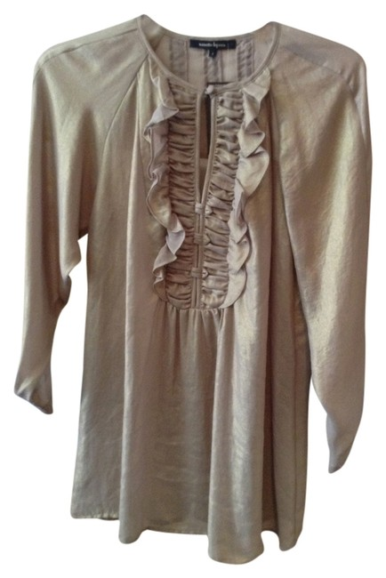 Preload https://item2.tradesy.com/images/nanette-lepore-gold-scheming-ruffle-blouse-size-2-xs-4124416-0-0.jpg?width=400&height=650
