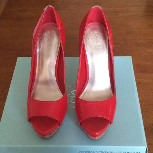 Jessica Simpson Red Platforms