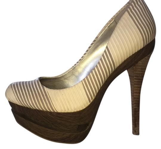 Jessica Simpson Sand and ivory Platforms