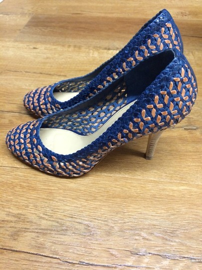 J.Crew Blue And Tan Pumps