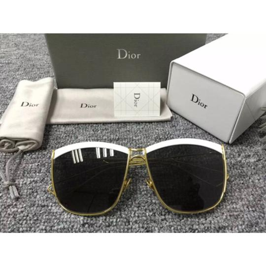 Dior Dior So Electric 58MM Square Sunglasses White Gold/Brown Grey Mirror