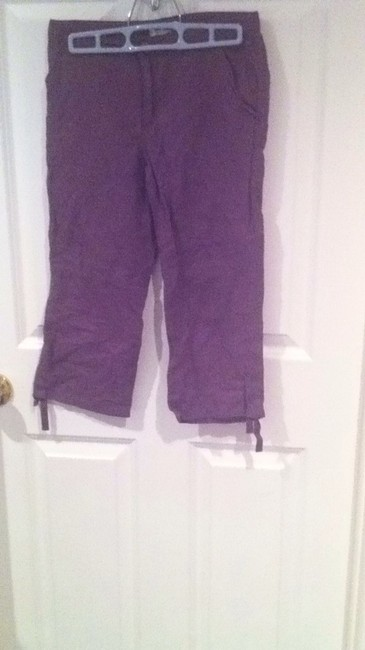 Old Navy Capris Green Olive And Purple