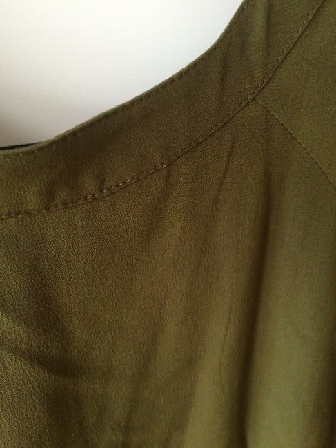 Twelfth St. by Cynthia Vincent short dress Green Scoop Neck Sleeved Silk on Tradesy