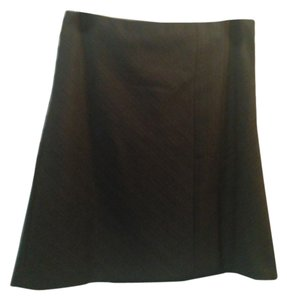 Ann Taylor LOFT Mini Skirt Black with grey and burgendy pinstrips