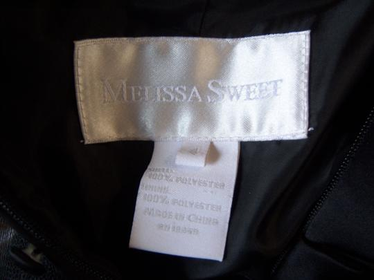 Melissa Sweet Black Polyester Satin Trumpet Formal Bridesmaid/Mob Dress Size 4 (S)