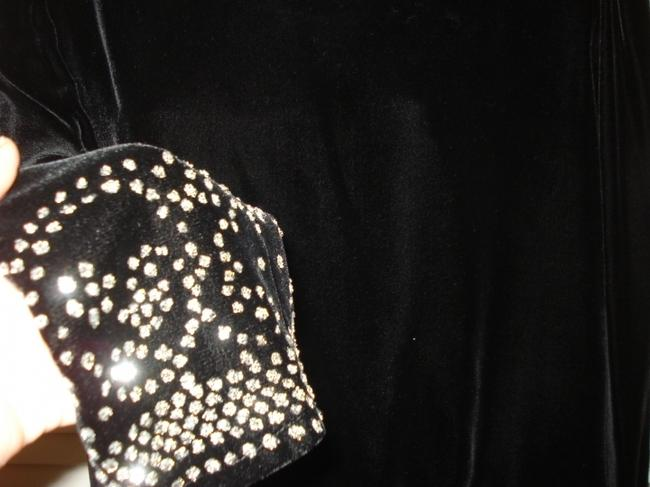 Lillie Rubin Velvet Vintage Rhinestones Evening Ocassion Top