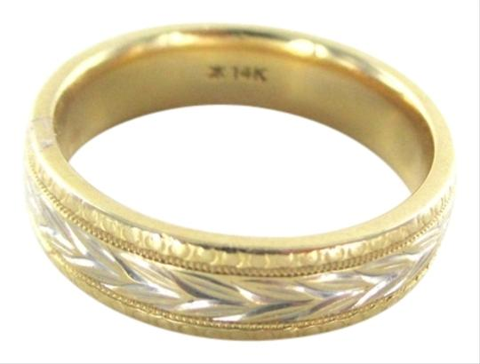 Preload https://item2.tradesy.com/images/gold-14k-solid-yellow-white-wedding-band-etched-floral-not-scrap-94-gram-ring-4126726-0-0.jpg?width=440&height=440