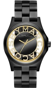 Marc by Marc Jacobs Marc by Marc Jacobs Watch, Women's Henry Black Ion-Plated Stainless Steel Bracelet 40mm MBM3255