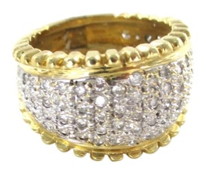 14K SOLID YELLOW GOLD WEDDING BAND 79 GENUINE DIAMOND 1.20 CARAT NOT SCRAP RING