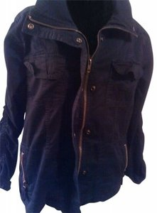 Style & Co Casual Jean Jack Black Zip/Snap High Collar Jacket Womens Jean Jacket