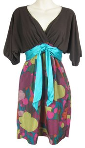Hype short dress multi-colored Dolman Faux Wrap Tie Waist on Tradesy
