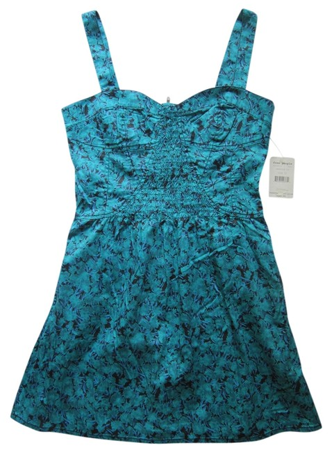 Preload https://item3.tradesy.com/images/free-people-teal-emerald-co-mid-length-short-casual-dress-size-12-l-4127422-0-0.jpg?width=400&height=650