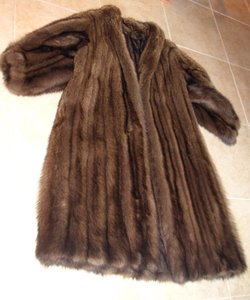 benkahn Ben Kahn Full Length Fisher Shawl Collar Fur Coat Golden Brown
