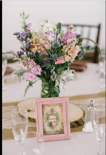 French Mauve Shabby/Rustic Table Numbers Reception Decoration