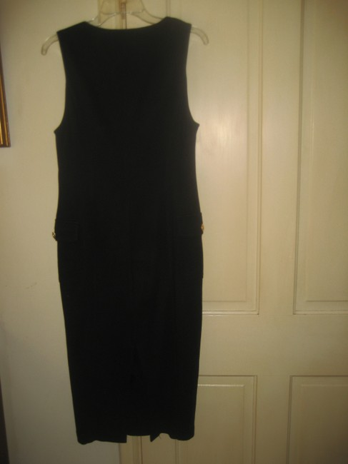 Adrienne Vittadini Cotton Buttons Sleeveless Maxi Dress