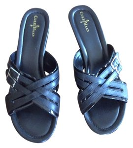 Cole Haan Black Leather & Patent Sandals