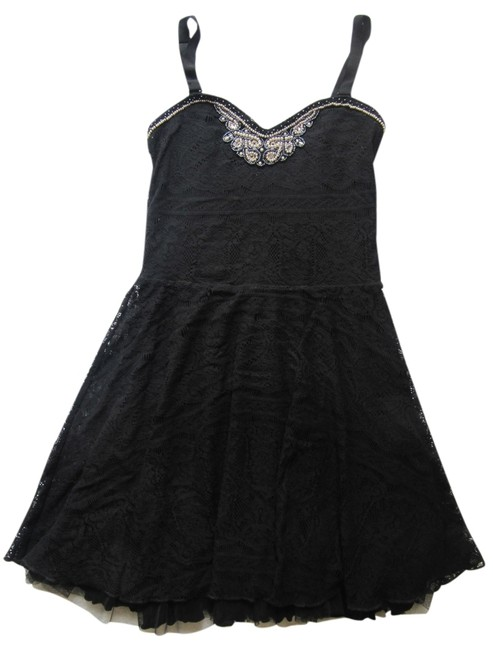 Preload https://item5.tradesy.com/images/free-people-black-lacey-mid-length-night-out-dress-size-2-xs-4127674-0-0.jpg?width=400&height=650