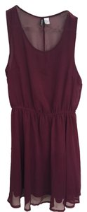 H&M short dress Purple/Wine on Tradesy