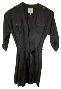 I Love H81 Button Downs Gold Gold Studs Button Down Shirt Dark Gray