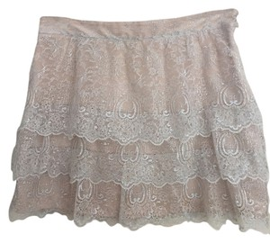 Massimo Dutti Sparkly Skirt Light pink/gray