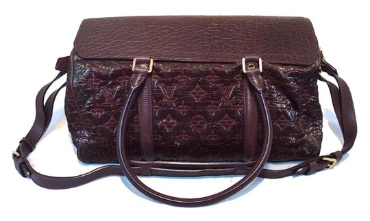 Louis Vuitton Jacquard Cowhide Purple Tote in Bordeaux