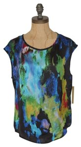 Matty M Top MULTI WATERCOLOR