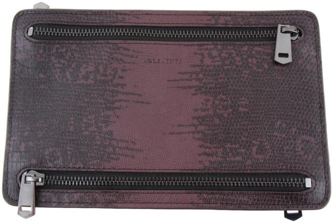 Item - Travel Currency Holder Burgundy Red Leather Clutch