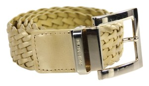 Michael Kors * Michael Kors Woven Braided Leather Belt - Size Large