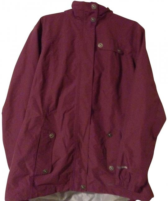 Item - Maroon Pink Weather Proof Coat Size 22 (Plus 2x)