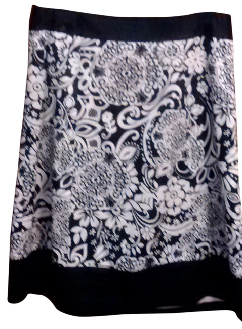 Preload https://item5.tradesy.com/images/ann-taylor-skirt-black-and-off-white-4128289-0-0.jpg?width=400&height=650