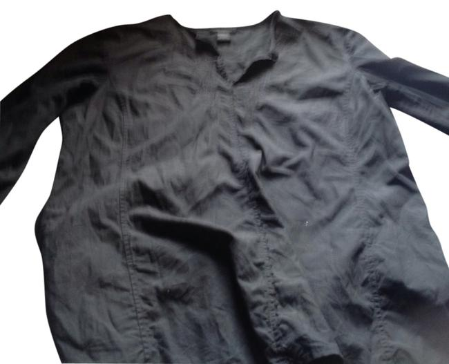 The Limited Tunic Inset Embroidered Like New Top Black