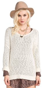 Full Tilt Casual Comfy Loose Open-knit Knit Long-sleeve Sweater