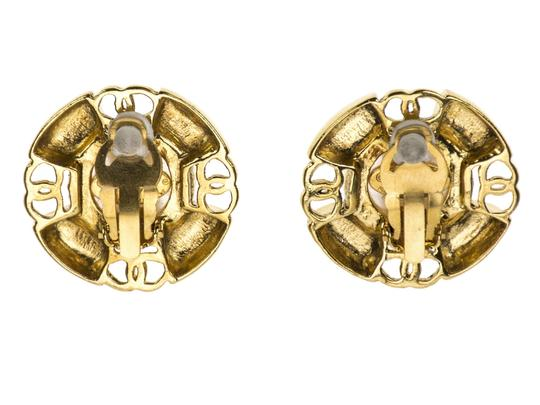 Chanel Chanel Vintage Gold Round Earrings