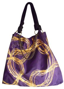 Vera Wang Tote in purple & gold