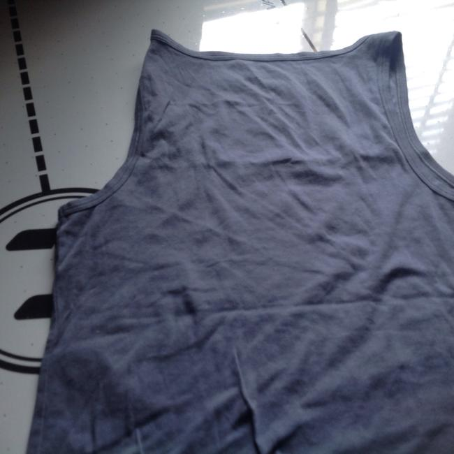 Banana Republic T Shirt With Br Logo On Front Like New Top Slate blue