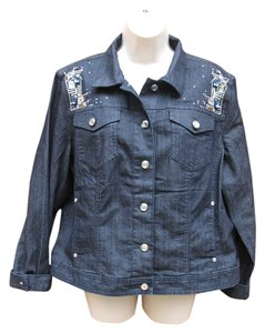 Chico's Dark Denim Womens Jean Jacket