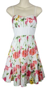 Guess short dress white, pink Floral Flowers Flutter on Tradesy