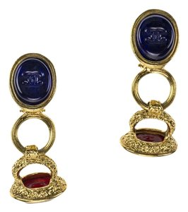 Chanel Chanel Vintage Gold Gripoix Earrings