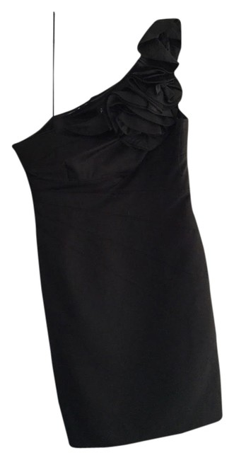 Adrianna Papell One Shoulder Short Ruffle Dress